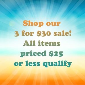 Shop our 3 for $30 sale!